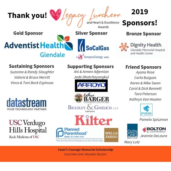 Legacy Luncheon 2019 Sponsor Logos